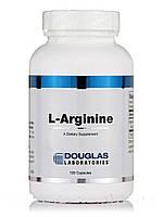 L-аргинин, L-Arginine, Douglas Laboratories, 100 Вегетарианских кампсул, фото 1