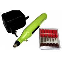 Машинка для полировки ногтей маникюра педикюра фрезер MM 300 Green, фото 1