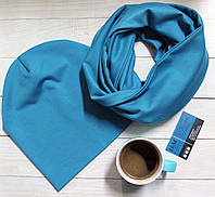Комплект шапка+шарф из трикотажа 090201