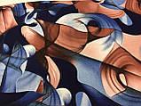 Кашемировый палантин с  легкими узорами, фото 3