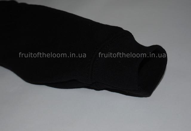 Чёрная детская классическая толстовка с капюшоном