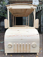 Деревянный автобус для детской площадки, фото 1