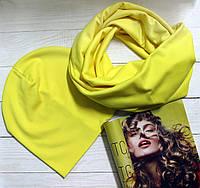 Комплект шапка+шарф из трикотажа I&M 090202 - желтый
