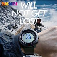 Часы с компасом Skmei 1216 хаки