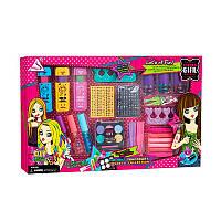 Набор детской косметики Fun Girl 513: тени, лак, пилочка, тушь для волос, заколки и аксессуары