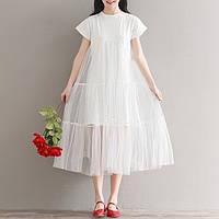 Платье с евросеткой