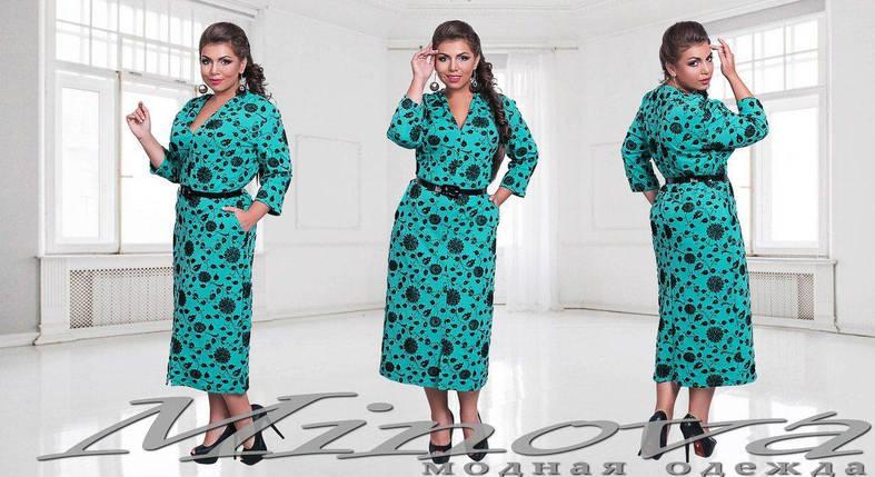 """Шикарное женское платье ткань """"Кукуруза"""" 50, 52 размер батал, фото 2"""