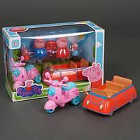 Детский игровой набор «Машина и мотоцикл Свинки Пеппы»