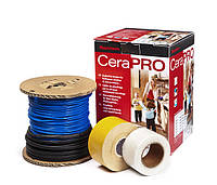 Теплый пол, комплект CeraPro 320W. Ультратонкий кабель на катушке, длина: 28m