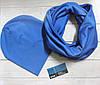 Комплект шапка+шарф I&M 090204 - голубой