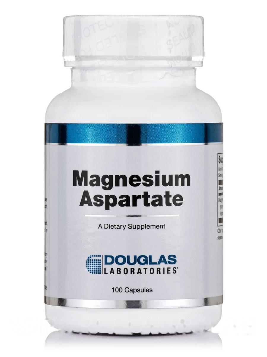 Аспартат магния, Magnesium Aspartate, Douglas Laboratories, 100 капсул