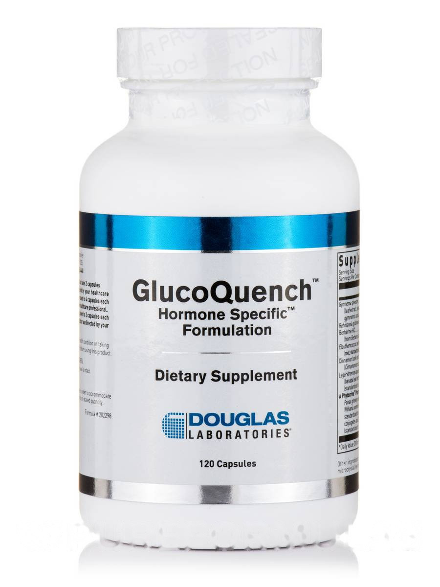 Глюкоквин, GlucoQuench, Douglas Laboratories, 120 Капсул
