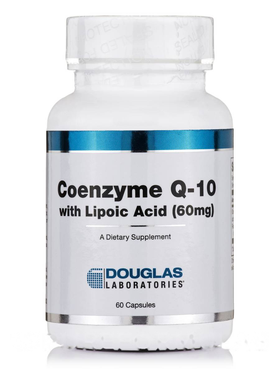 Коэнзим Q-10 60 мг с липоевой кислотой, Coenzyme Q-10 60 mg with Lipoic Acid, Douglas Laboratories, 60 капсул