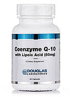 Коэнзим Q-10 60 мг с липоевой кислотой, Coenzyme Q-10 60 mg with Lipoic Acid, Douglas Laboratories, 60 капсул, фото 1