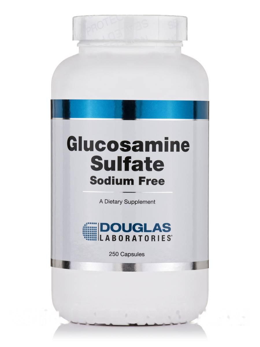 Сульфат глюкозамина, Glucosamine Sulfate, Douglas Laboratories, 250 капсул