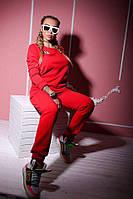 Женский трикотажный спортивный костюм тринить на флисе, женские трикотажные костюмы оптом