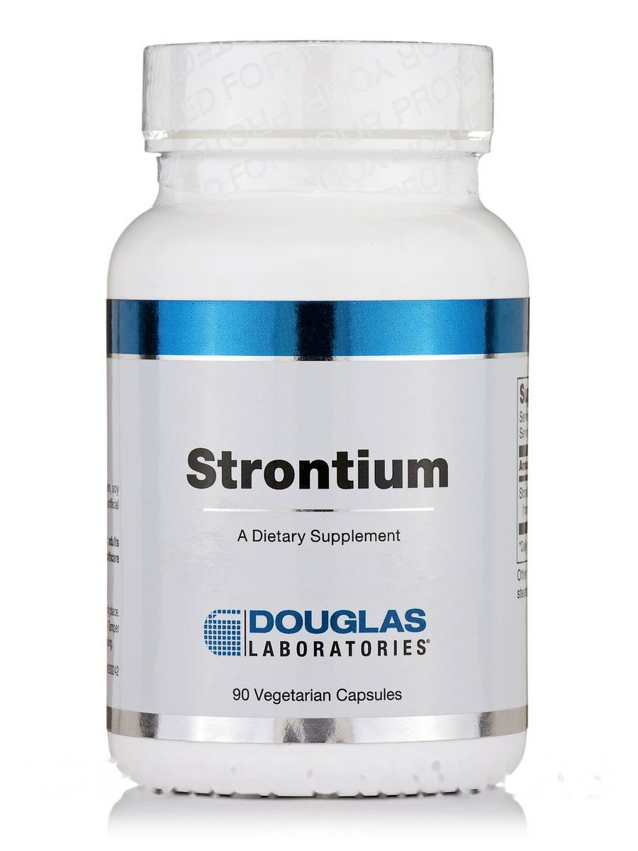 Стронций, Strontium, Douglas Laboratories, 90 вегетарианских капсул