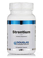 Стронций, Strontium, Douglas Laboratories, 90 вегетарианских капсул, фото 1
