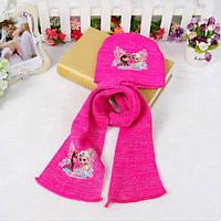 Шапочка и шарфик демисезонные для девочки
