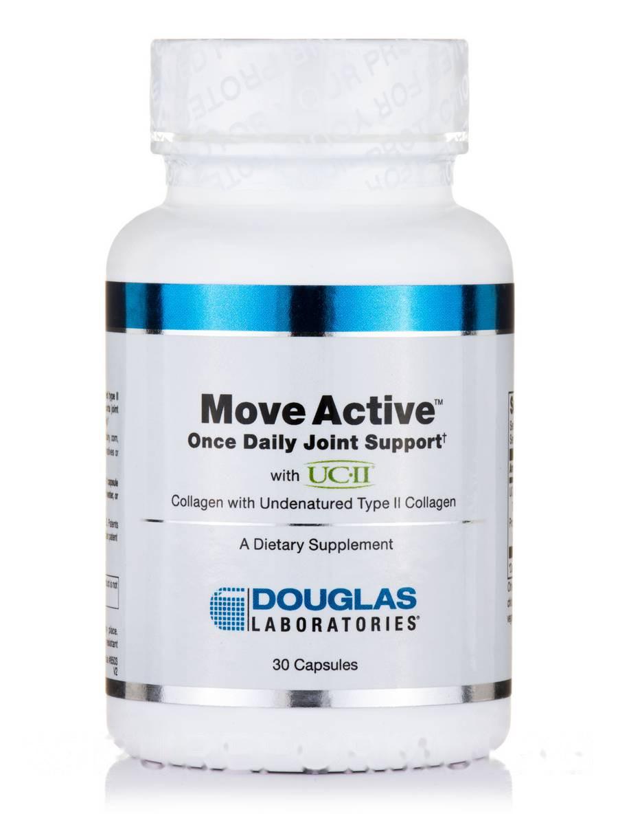 Суставная Активная однодневная совместная поддержка с UC-II, Move Active Once Daily Joint Support with UC-II, Douglas Laboratories, 30 капсул