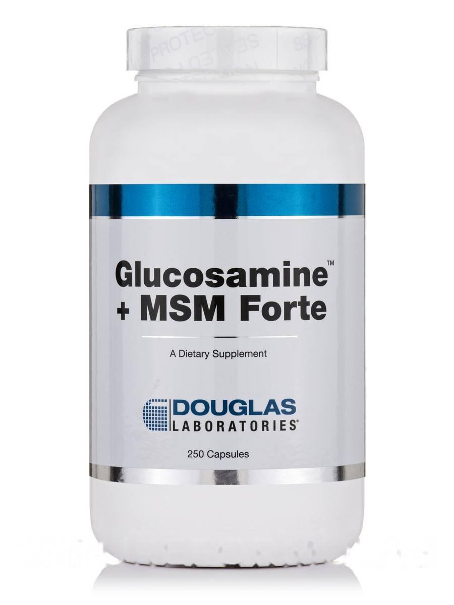 Глюкозамин + МСМ Форте, Glucosamine + MSM Forte, Douglas Laboratories, 250 капсул