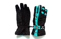 Перчатки горнолыжные женские SHENPEAK BLUE-23 В 023 (черный-бирюзовый)