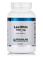 Лецитин 1200 мг, Lecithin, Douglas Laboratories, 100 мягких гелей, фото 1