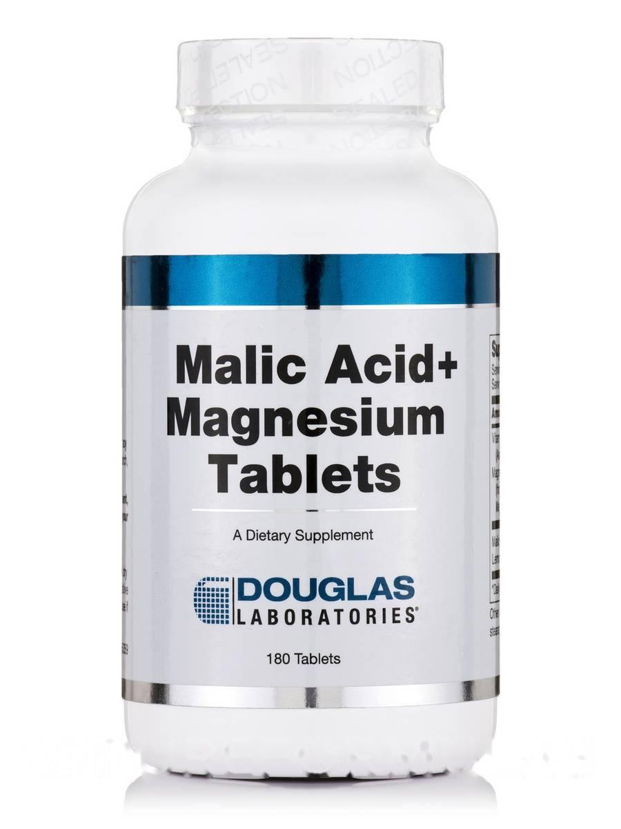 Малиновая кислота + магний, Malic Acid + Magnesium, Douglas Laboratories, 180 таблеток