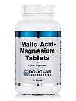 Малиновая кислота + магний, Malic Acid + Magnesium, Douglas Laboratories, 180 таблеток, фото 1