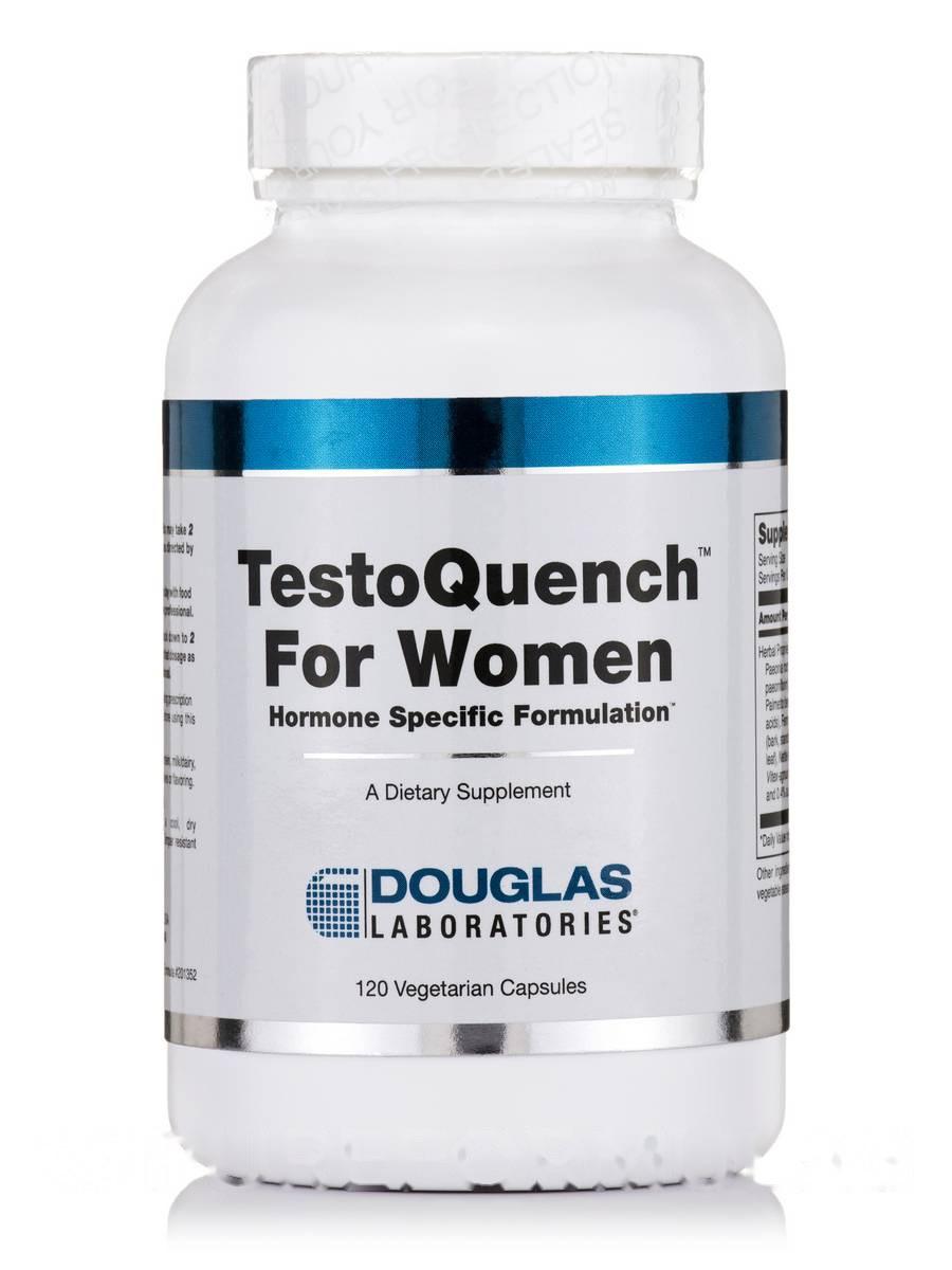 Тестоген для женщин, TestoQuench for Women, Douglas Laboratories, 120 Вегетаринских капсул