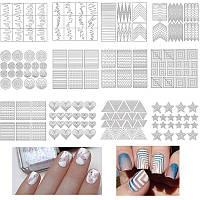 Трафареты для дизайна ногтей 12 шаблонов