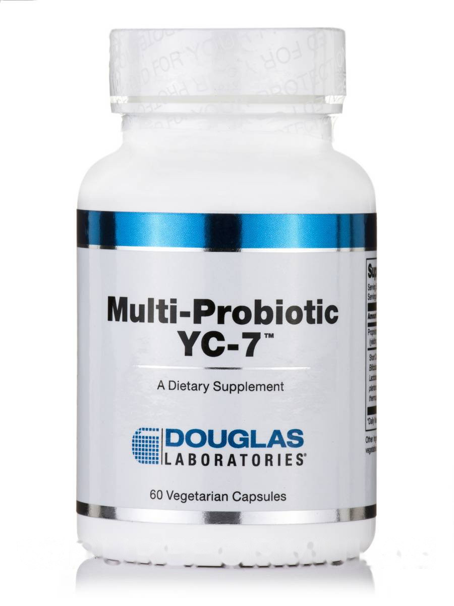 Мультипробиотик YC-7, Multi-Probiotic YC-7, Douglas Laboratories, 60 Вегетариаснких капсул