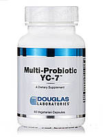 Мультипробиотик YC-7, Multi-Probiotic YC-7, Douglas Laboratories, 60 Вегетариаснких капсул, фото 1