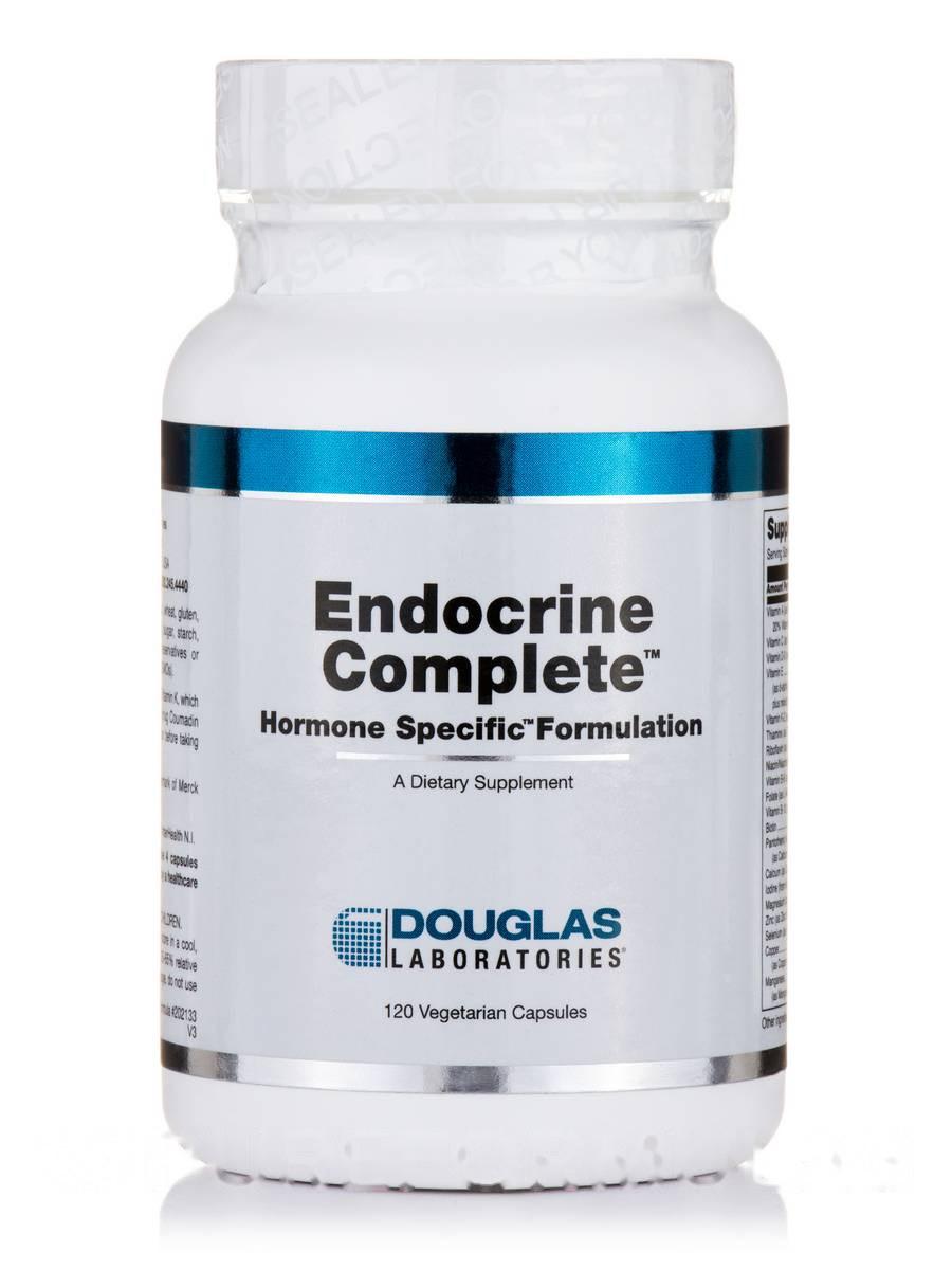 Эндокринной комплект(Гормональный препарат), Endocrine Complete (Hormone Specific Formulation), Douglas Laboratories, 120 вегетарианских капсул