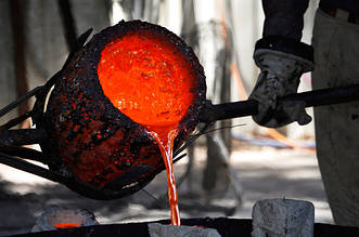 Процесс разливки сталей