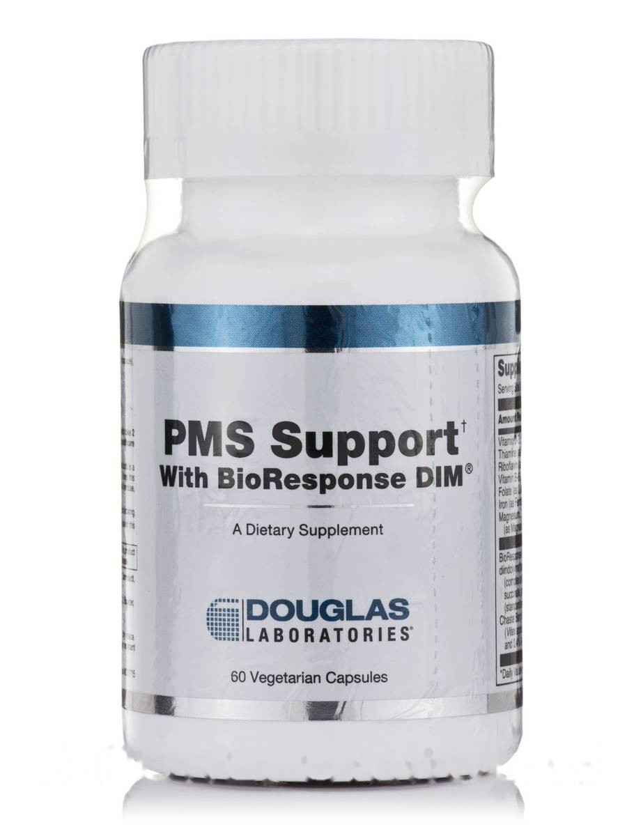 PMS Поддержка с Био реакцией ДИМ, PMS Support with BioResponse DIM, Douglas Laboratories, 60 Вегетарианских капсул
