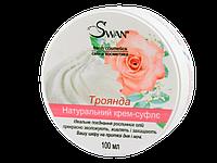 """Натуральный крем-суфле """"Роза"""" (увлажнение, питание, защита), 100мл"""