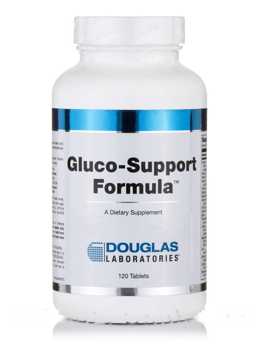 Глюко -Поддержка, Gluco-Support Formula, Douglas Laboratories, 120 Tаблеток