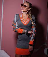 Женское трикотажное полушерстяное платье Звезда, женские трикотажные платья оптом от производителя