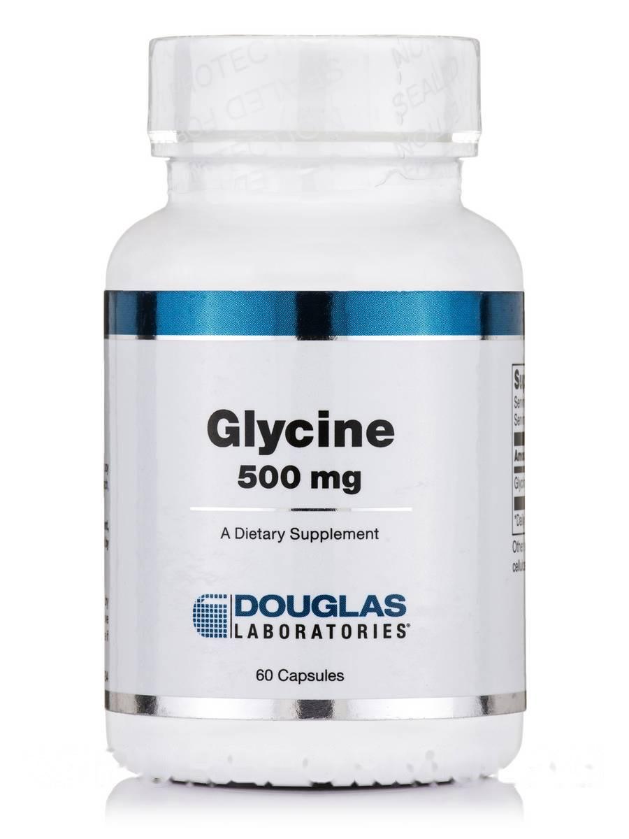 Глицин 500 мг, Glycine, Douglas Laboratories, 60 капсул