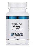 Глицин 500 мг, Glycine, Douglas Laboratories, 60 капсул, фото 1