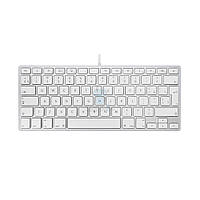 Проводная алюминиевая клавиатура, Apple Wired Keyboard, без картонной упаковки (Раскладка - US) (MB869-nobox)