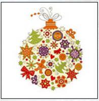 Салфетка новый год La Fleur новогодняя игрушка