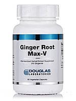 Имбирный корень Max-V, Ginger Root Max-V, Douglas Laboratories, 60 вегетарианских капсул, фото 1