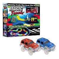 Гоночная трасса Magic Tracks (Мэджик Трек) 220 деталей, гибкая гоночная трасса, гоночный трек