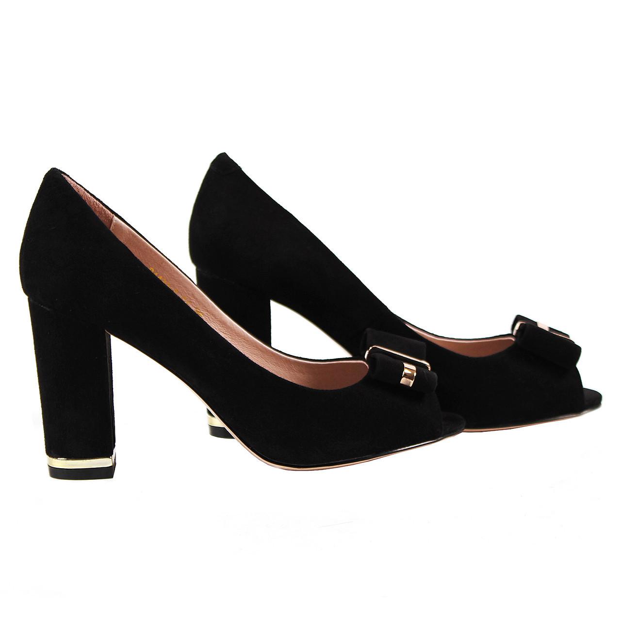 d59d5a9bf Элегантные женские туфли Blue Tempt (замшевые, летние, весенние, на удобном  каблуке,