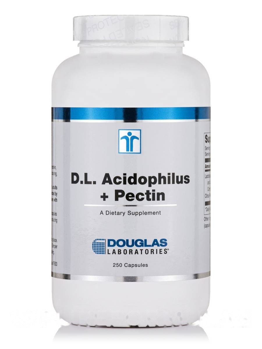 Д.Л. Ацидофилус+ Пектин, D.L. Acidophilus + Pectin, Douglas Laboratories, 250 Капсул