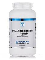 Д.Л. Ацидофилус+ Пектин, D.L. Acidophilus + Pectin, Douglas Laboratories, 250 Капсул, фото 1