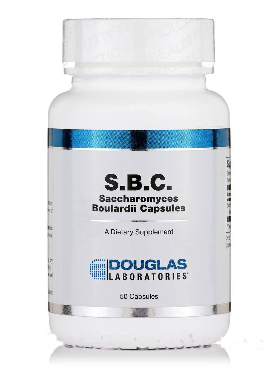 С.Б. К Сахаромицеты Буларди, S.B.C. Saccharomyces Boulardii, Douglas Laboratories, 50 Капсул