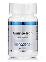 Амина-железо, Amino-Iron, Douglas Laboratories, 100 Tаблеток , фото 1